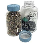 16 oz. Clear Plastic Jar - Heavy Duty with Locking Cap