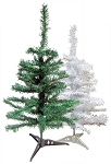 3-ft White or Green Artificial Xmas Trees