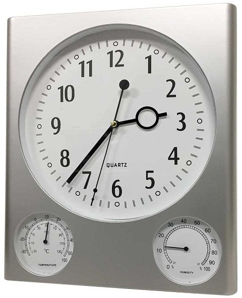 Analog Wall Clock with Temperature & Humidity