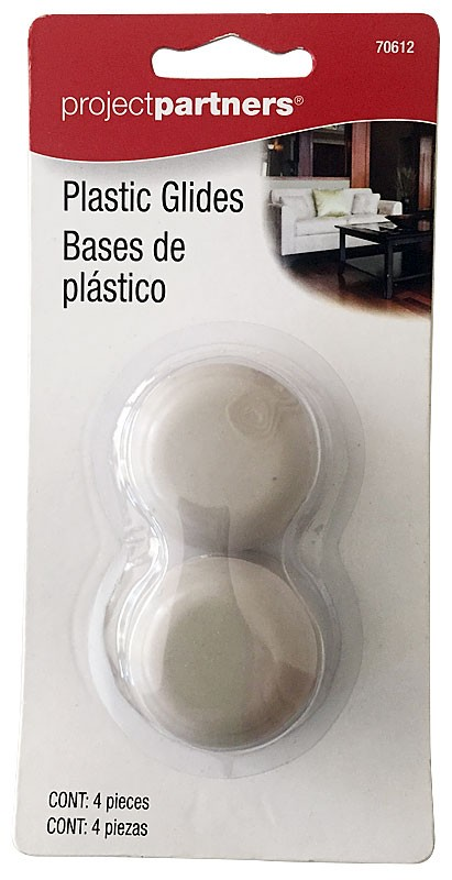 Project Partners 4-pc Plastic Furniture Glides