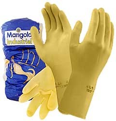 Pair of Industrial Rubber Latex Gloves