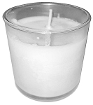 Unscented White Candle