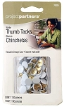 Project Partners 100-pc White Thumb Tacks