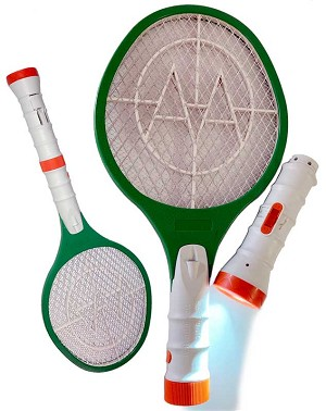 Rechargeable Bug Zapper with Removable LED Flashlight!
